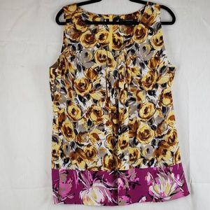 Ellen Tracy size 16 silk blouse